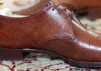 pigskin derby shoes