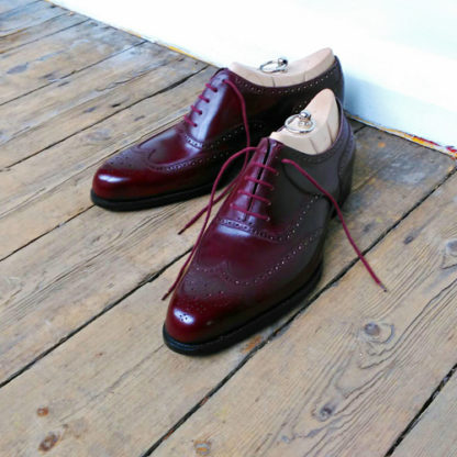 burgundy bespoke shoes
