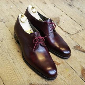 burgundy derby shoe