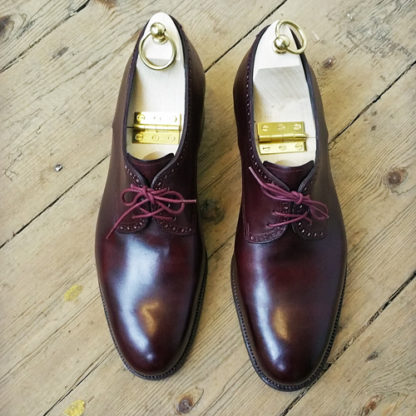 burgundy derby shoe
