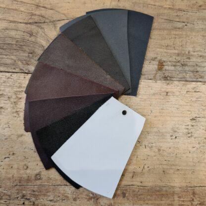 Carreducker shoe upper colours - white, browns and blacks