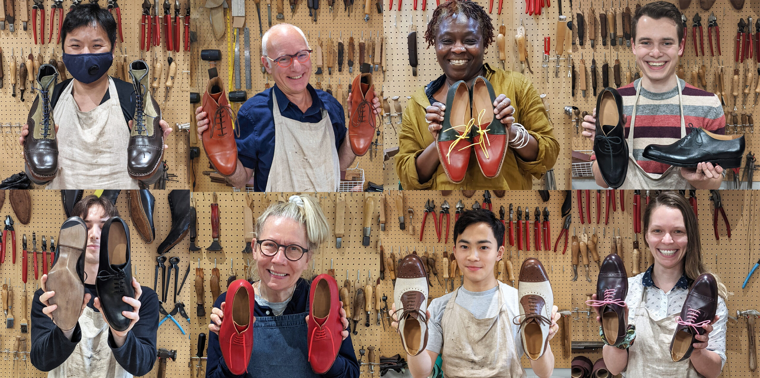 Carreducker shoe making students