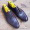 Derby shoe straight toe cap
