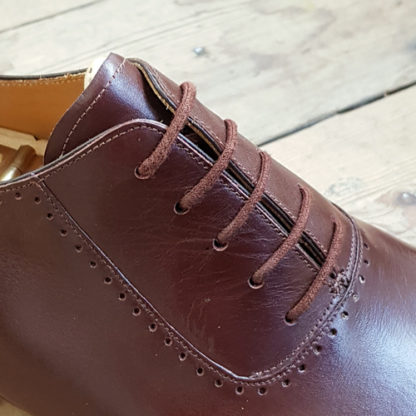 Adelaide facings on bespoke shoe