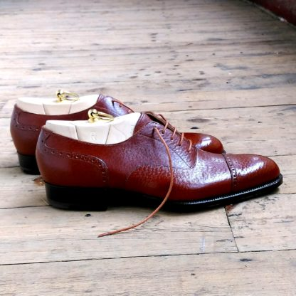Brown leather shoes for men