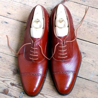 Grain leather shoe