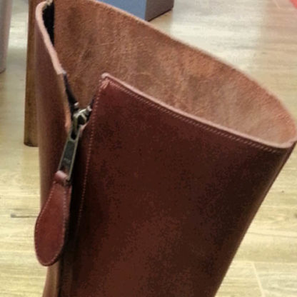 zip detail on boots