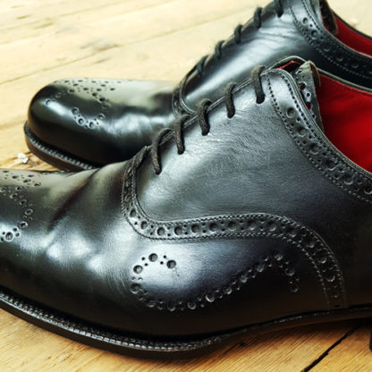 Brogue detail on shoes