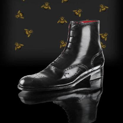 Luxury black boots