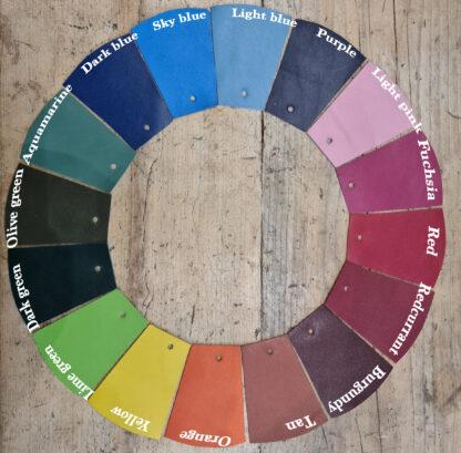 Shoe upper colours