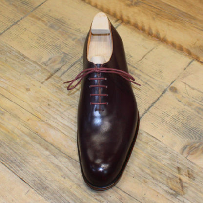 burgundy leather shgoe