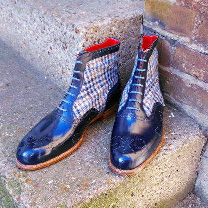 tweed oxford boot