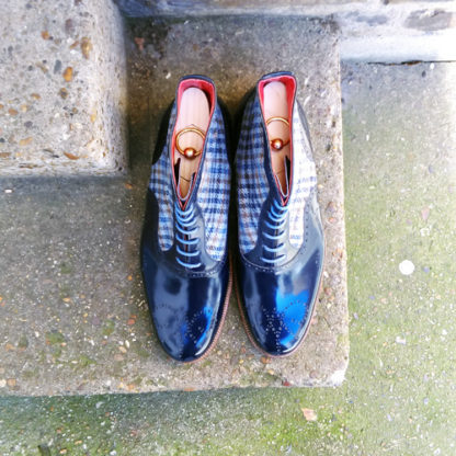 oxford boot blue tweed