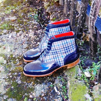 blue oxford boot
