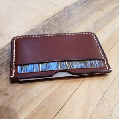 Make a card case in Italian leather
