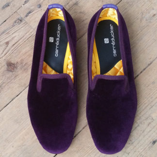 Velvet slippers made to order
