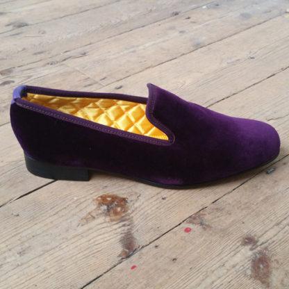 Velvet slippers made to order