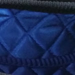 Royal blue quilted lining