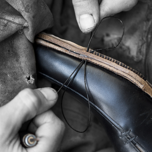 Stitching the sole