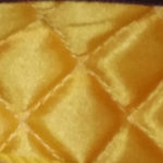 Yellow gold quilted lining