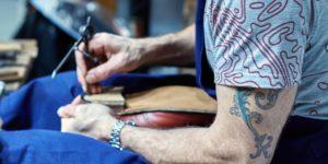 shoemaking demonstration