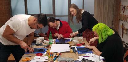 Glove making workshop at Carreducker with Riina Oun