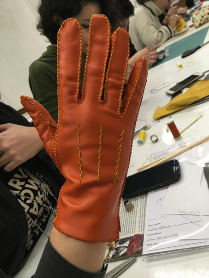 Five day glove making course Carreducker