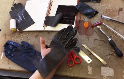 Glove making workshop