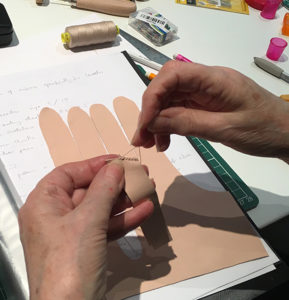 Carreducker two-fingered glove making