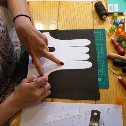 Glove making workshop from Carreducker