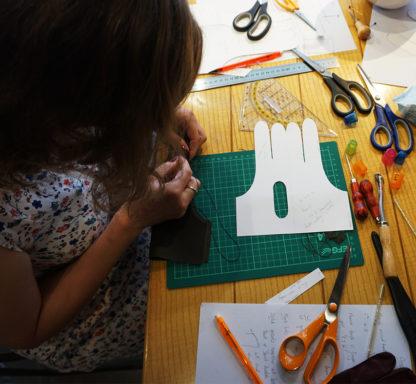 Handsewen glove making workshop with Riina O for carreducker