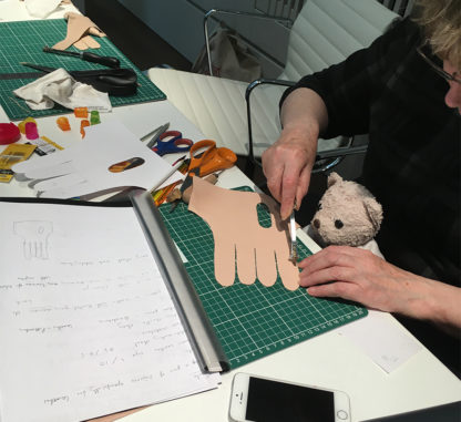 Carreducker two-fingered glove making workshop