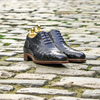 navy crocodile shoes