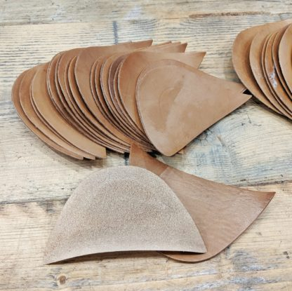 toe puffs made from oak bark leather for making shoes