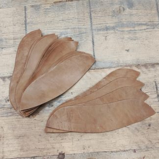 stiffeners made from oak bark tanned leather