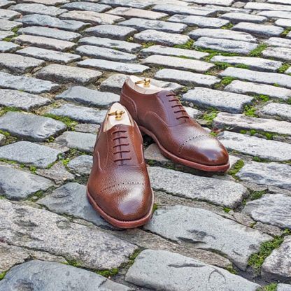 brown grain oxford shoes
