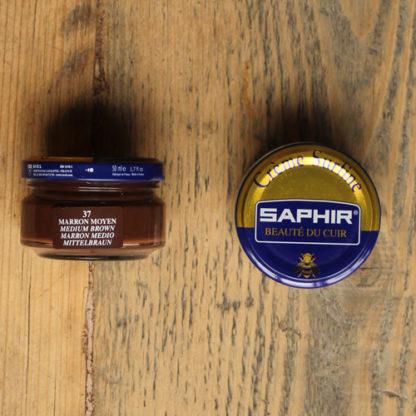 Saphir shoe cream mid brown