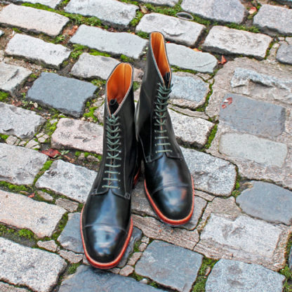 green bespoke boots for winter