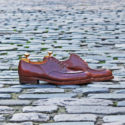 bespoke derby shoe in profile