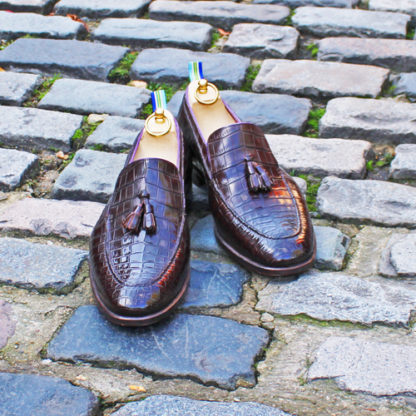 crocodile tassel loafers