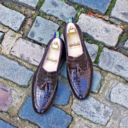 crocodile skin loafers