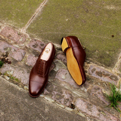 sole detail of a pair of bespoke oxford shoes