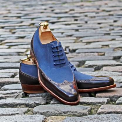 narrow two tone oxford shoe