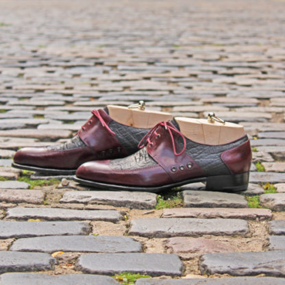profile of bespoke derby shoes