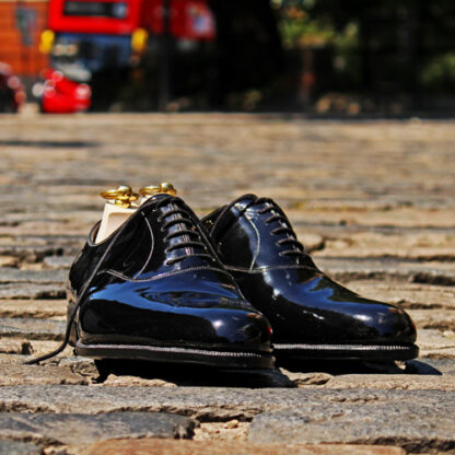 patent dress shoes for black tie events