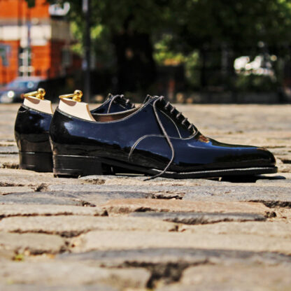 handmade black patent shoes