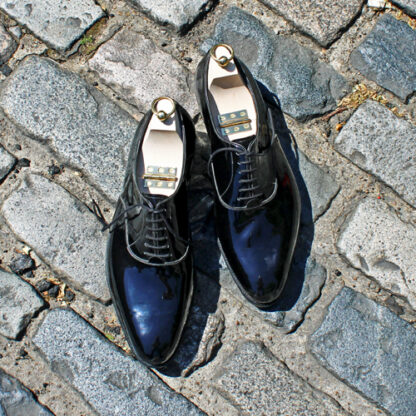 bespoke patent dress shoes