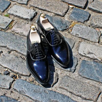black patent dress oxford shoes