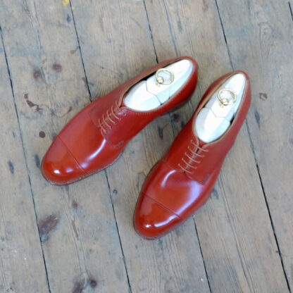tan derby bespoke shoe