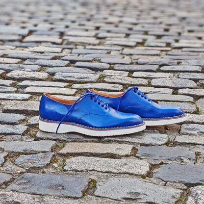 electric blue oxford shoes